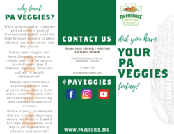 Pennsylvania Vegetables Brochure External