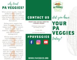 Pennsylvania Vegetables Brochure External