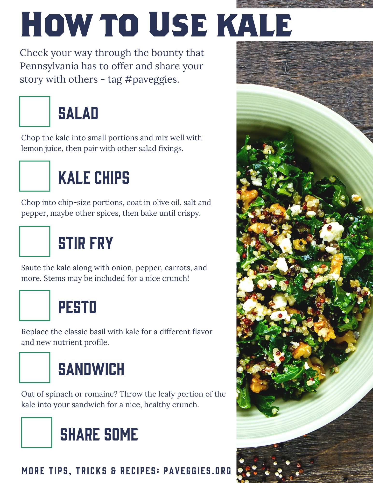 how to use kale