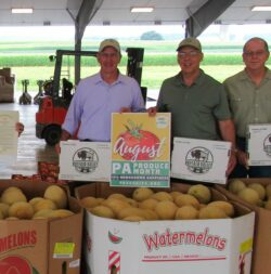 PA Produce Month Poster at Auction Event