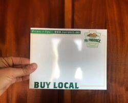 Local PA Produce Dry Erase Price Card