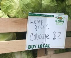 Local PA Produce Dry Erase Price Card at Market